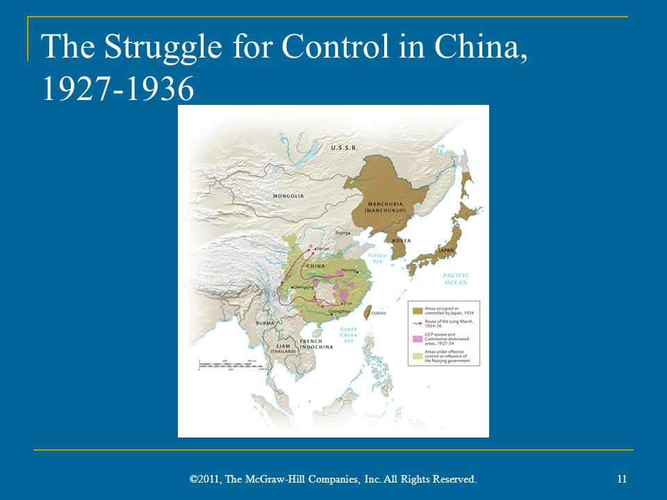 The Struggle for Control in China, 1927-1936
