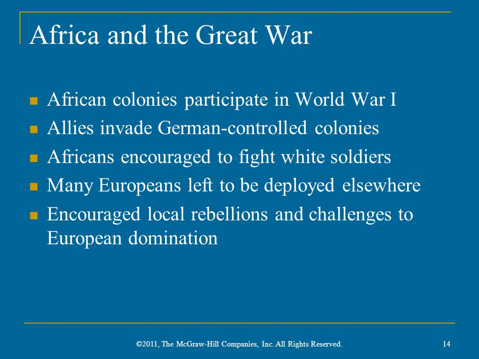 Africa and the Great War