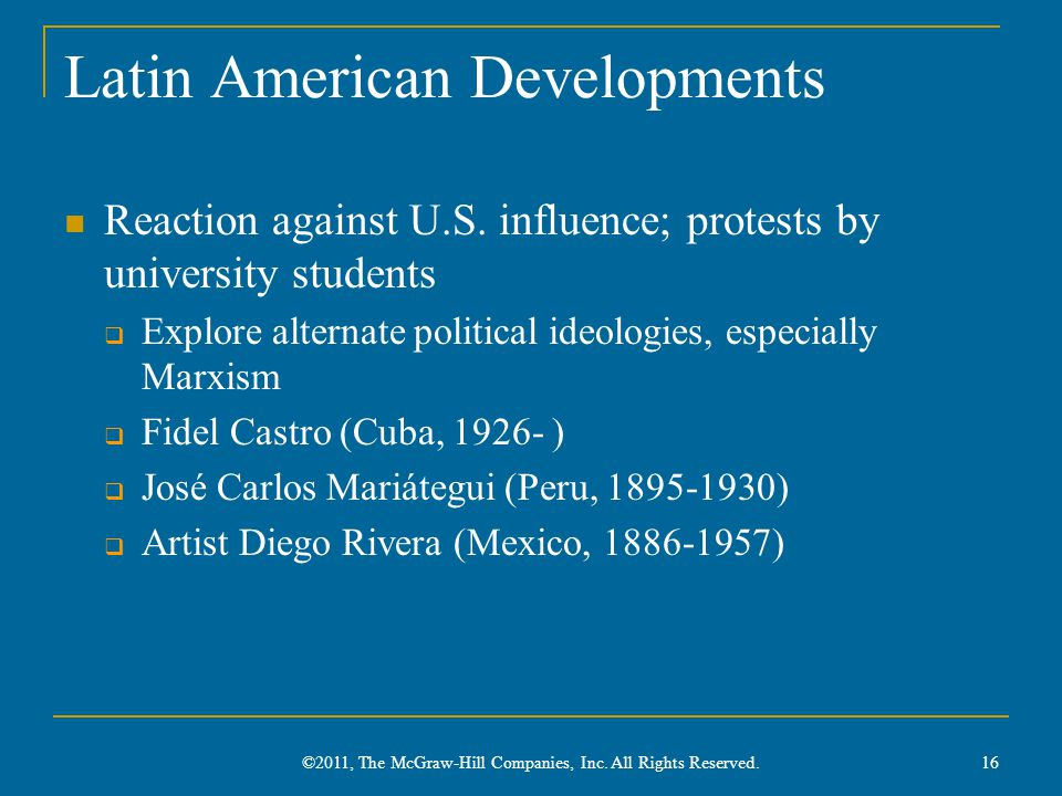 Latin American Developments