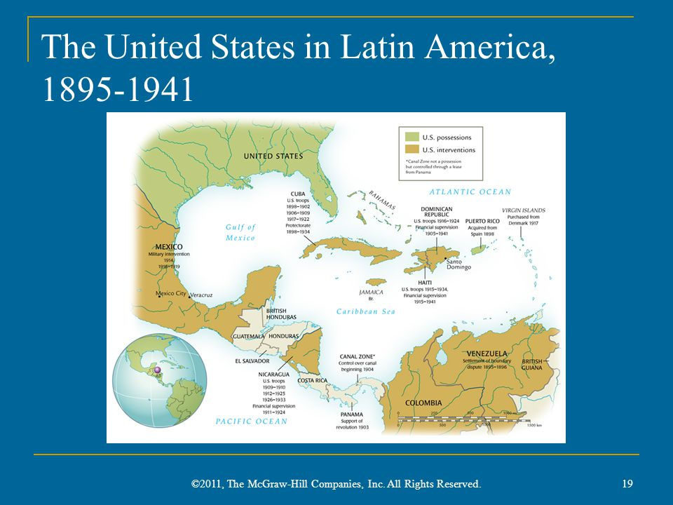 The United States in Latin America, 1895-1941
