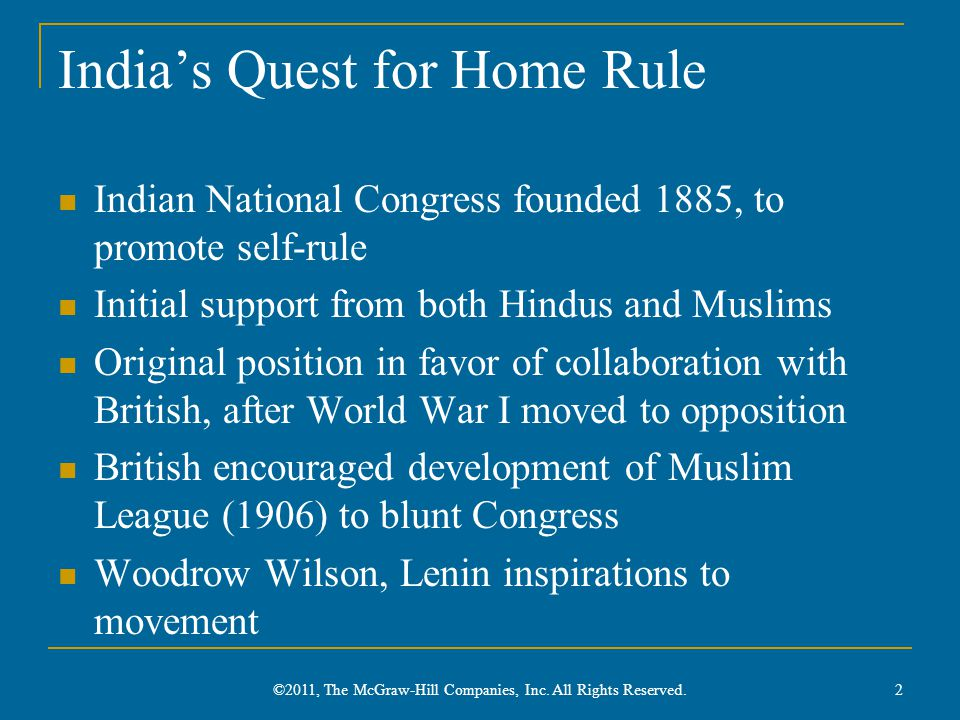 India's Quest for Home Rule