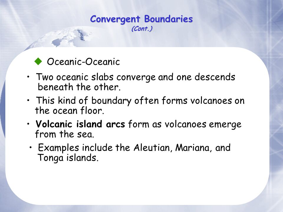 Convergent Boundaries (Cont.)