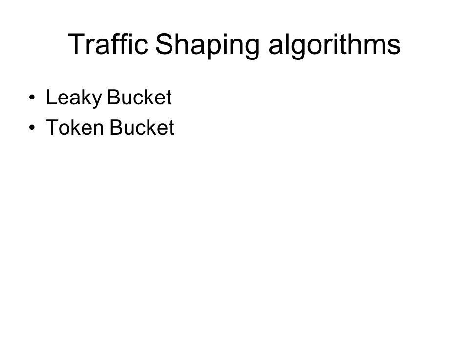 Traffic Shaping algorithms