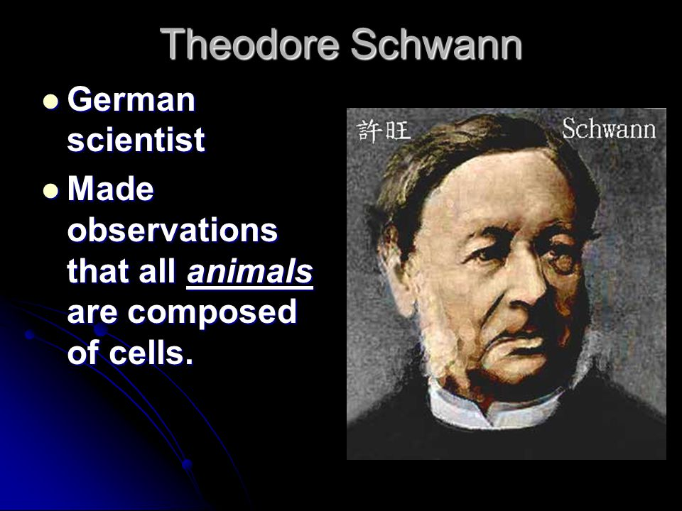Theodore Schwann German scientist