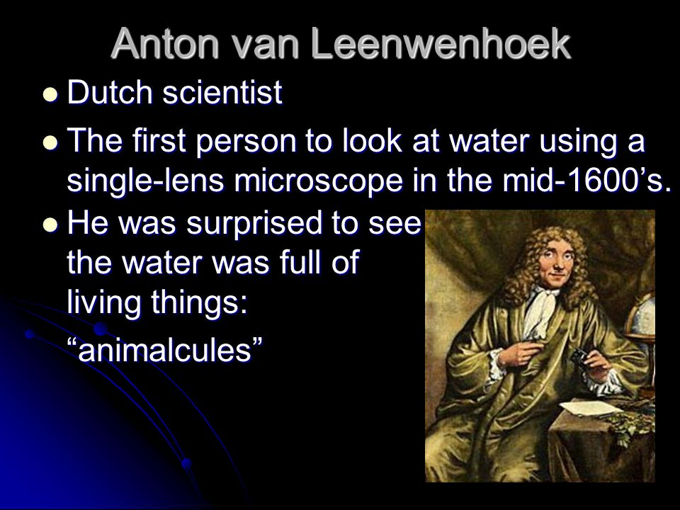 Anton van Leenwenhoek Dutch scientist