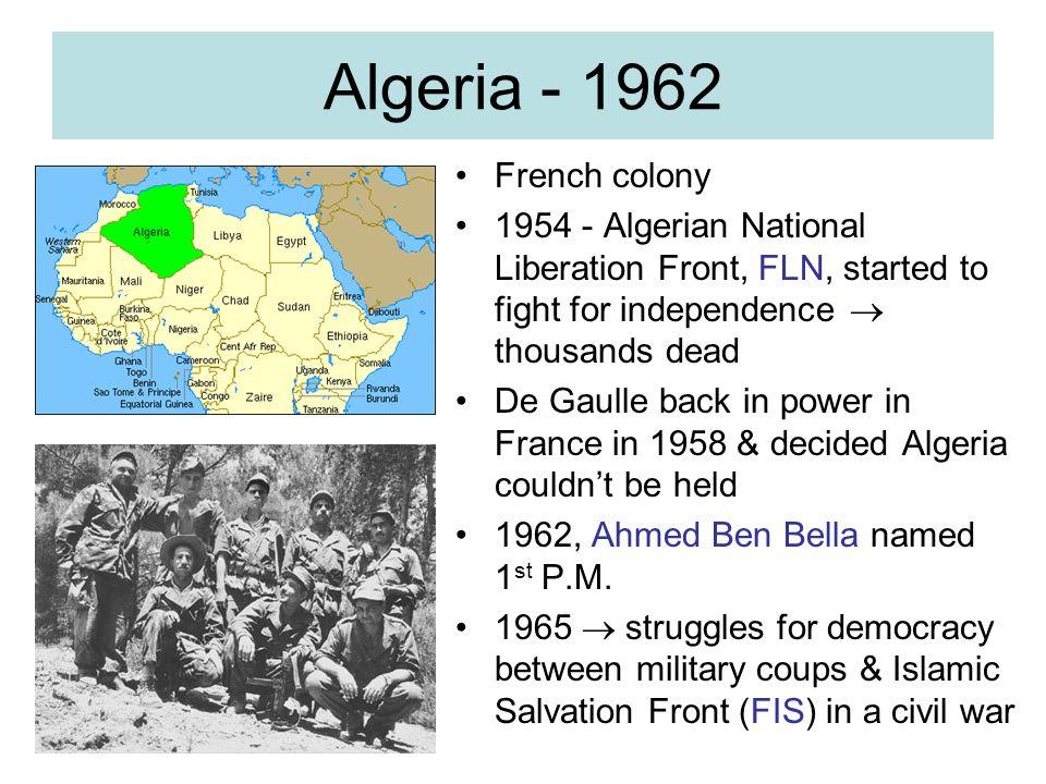 Algeria - 1962 French colony