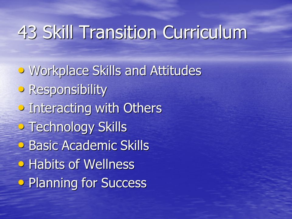 43 Skill Transition Curriculum