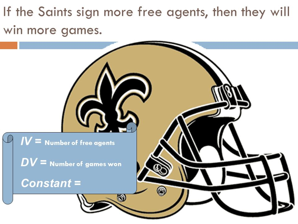 If the Saints sign more free agents, then they will win more games.