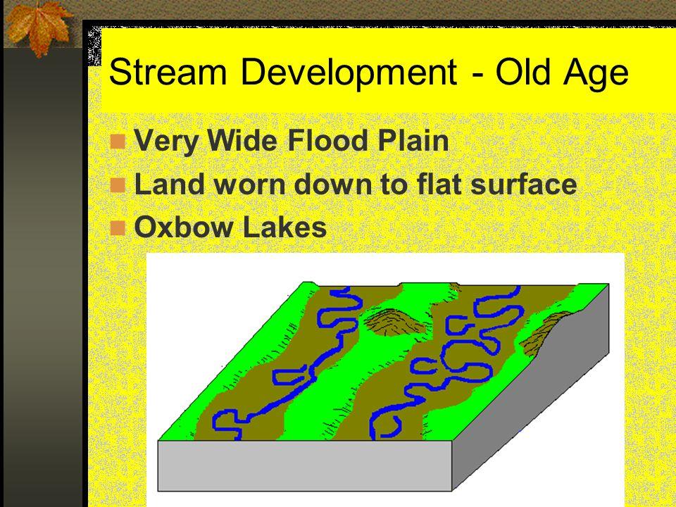 Stream Development - Old Age