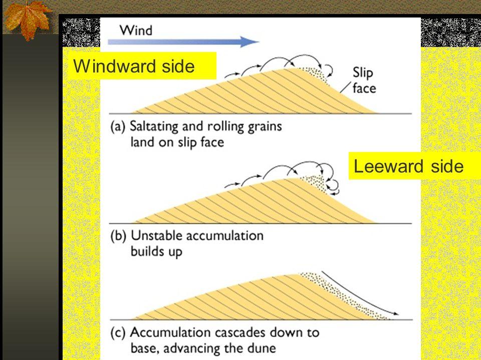 Windward side Leeward side