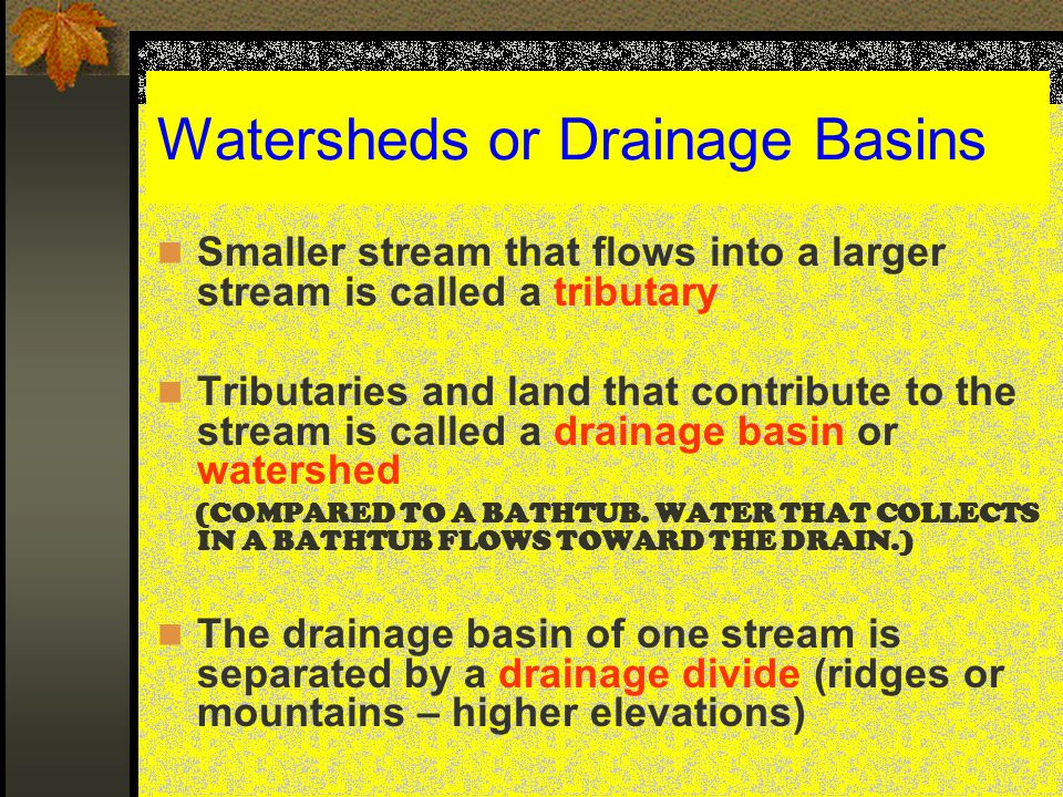 Watersheds or Drainage Basins