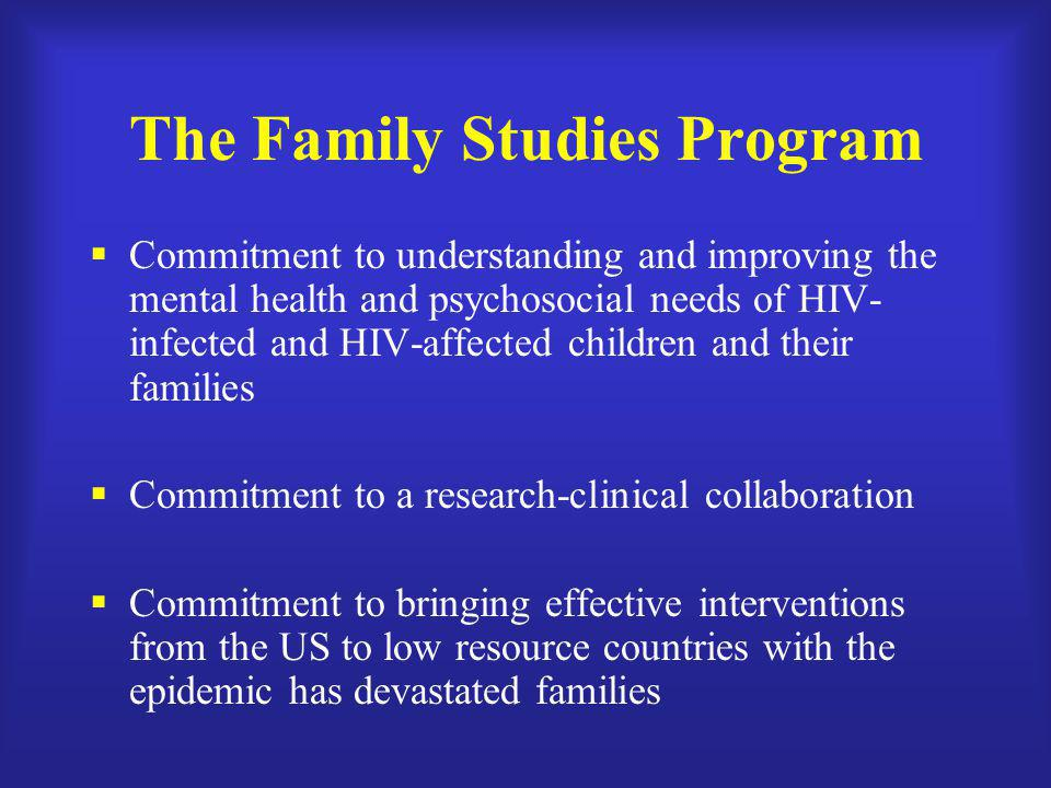The Family Studies Program