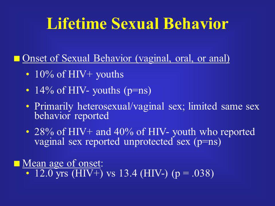 Lifetime Sexual Behavior
