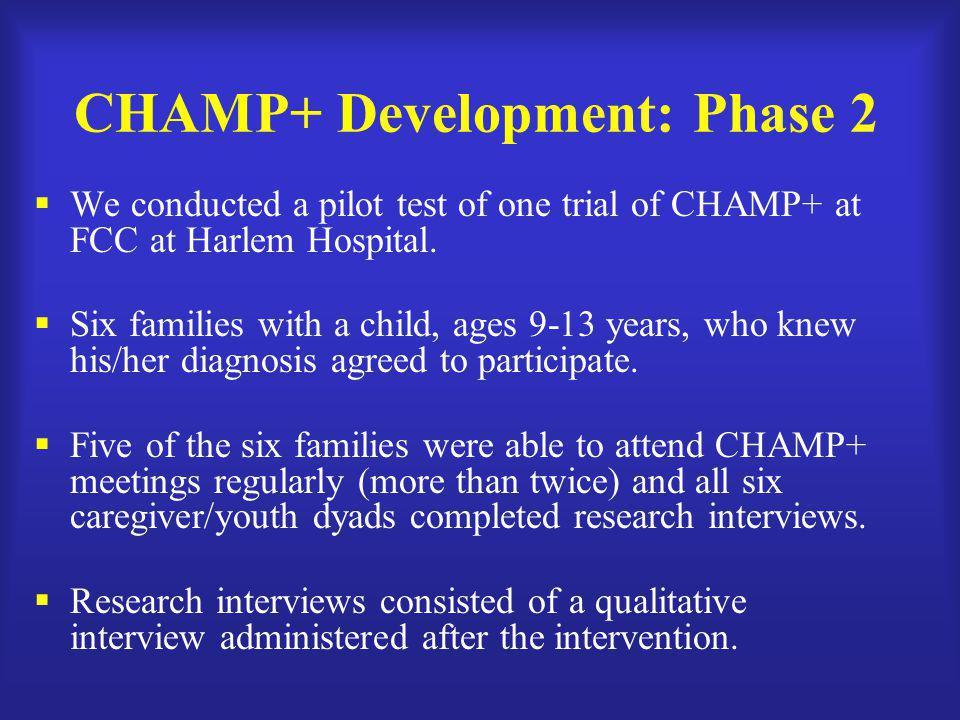 CHAMP+ Development: Phase 2