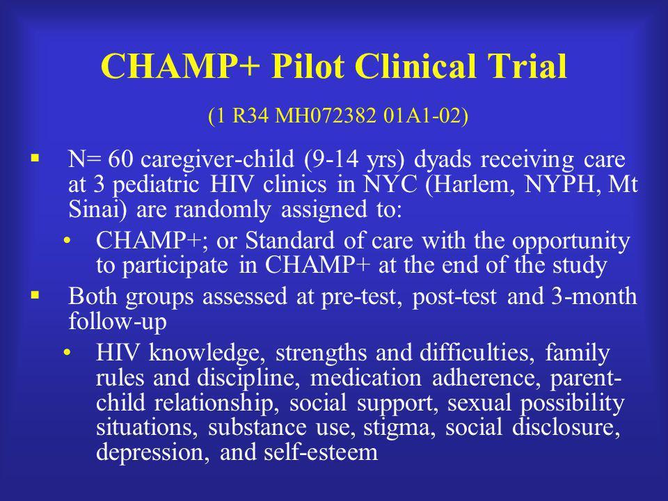 CHAMP+ Pilot Clinical Trial (1 R34 MH072382 01A1-02)