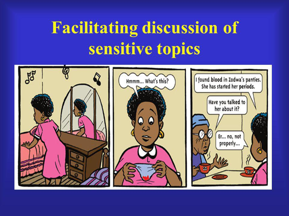Facilitating discussion of sensitive topics