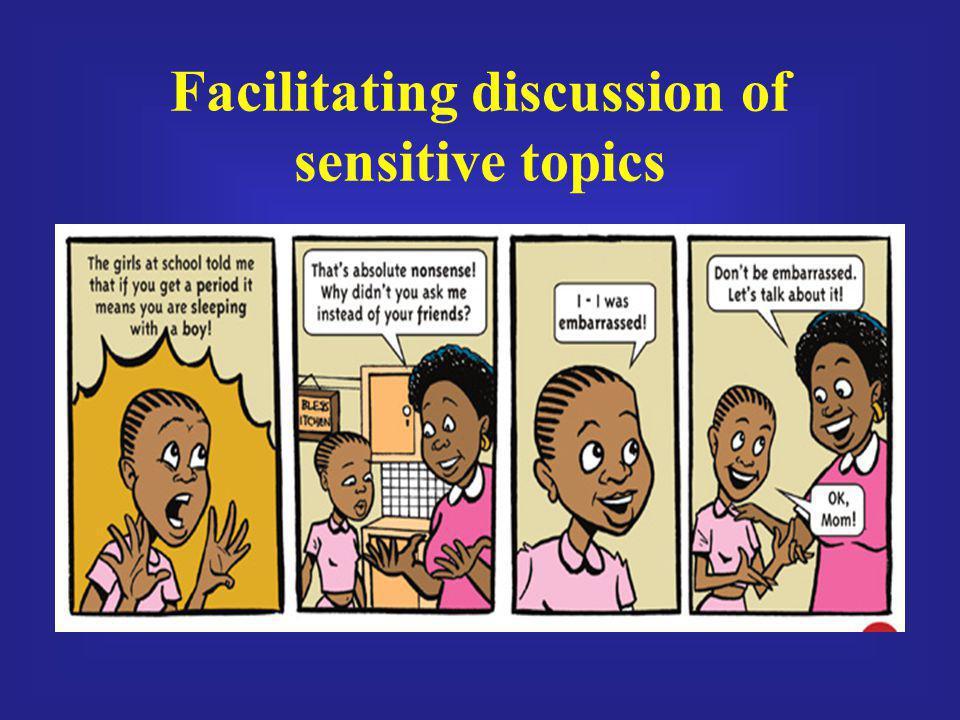 Facilitating discussion of sensitive topics