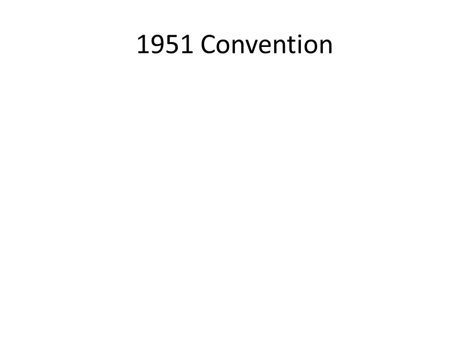 1951 Convention