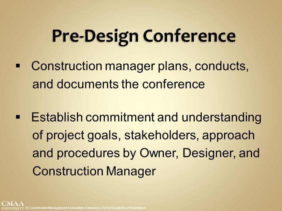 Pre-Design Conference