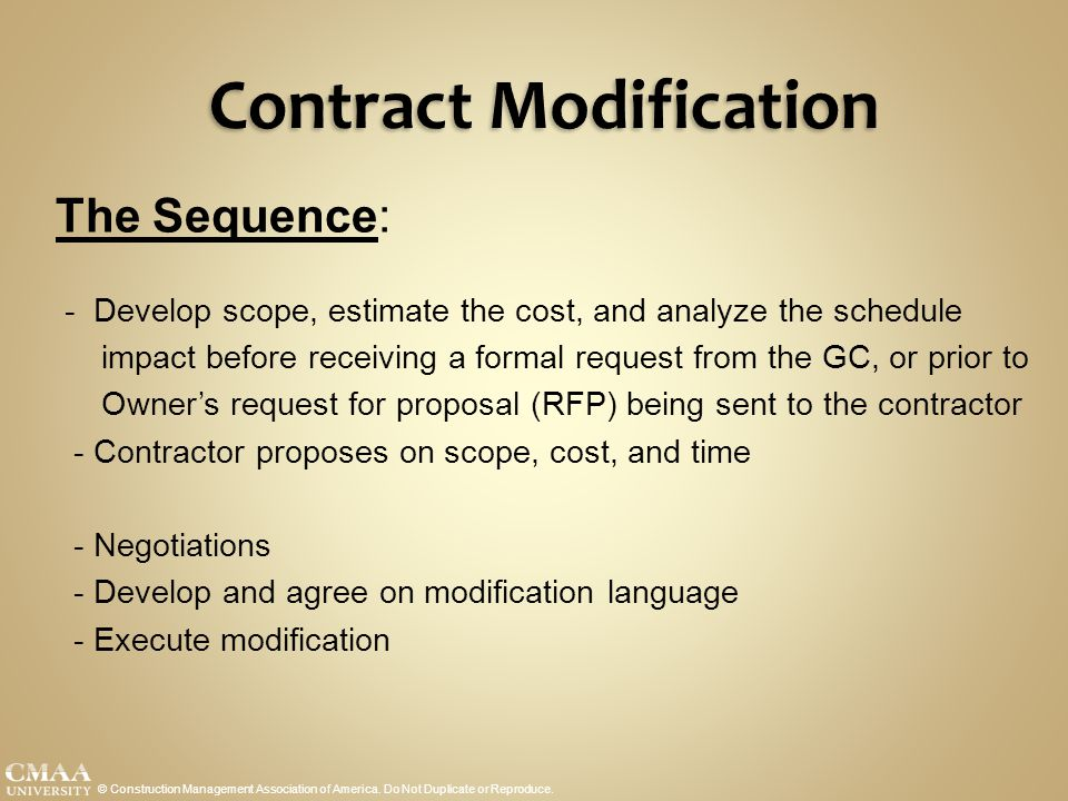 Contract Modification