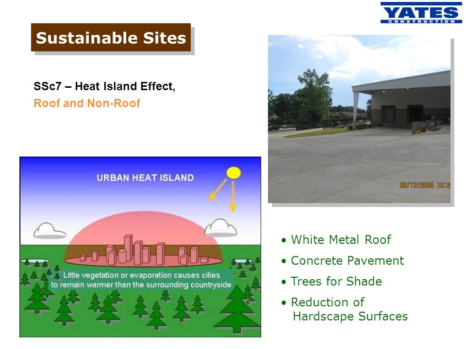 Sustainable Sites SSc7 – Heat Island Effect, Roof and Non-Roof