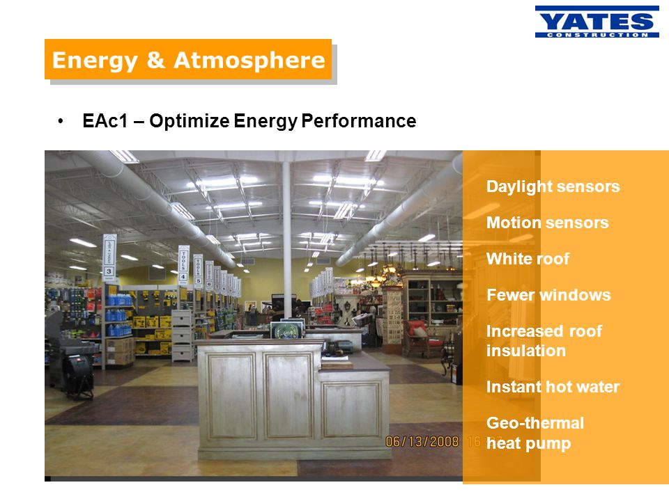Energy & Atmosphere EAc1 – Optimize Energy Performance