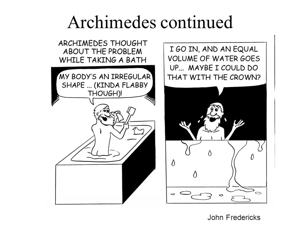Archimedes continued John Fredericks