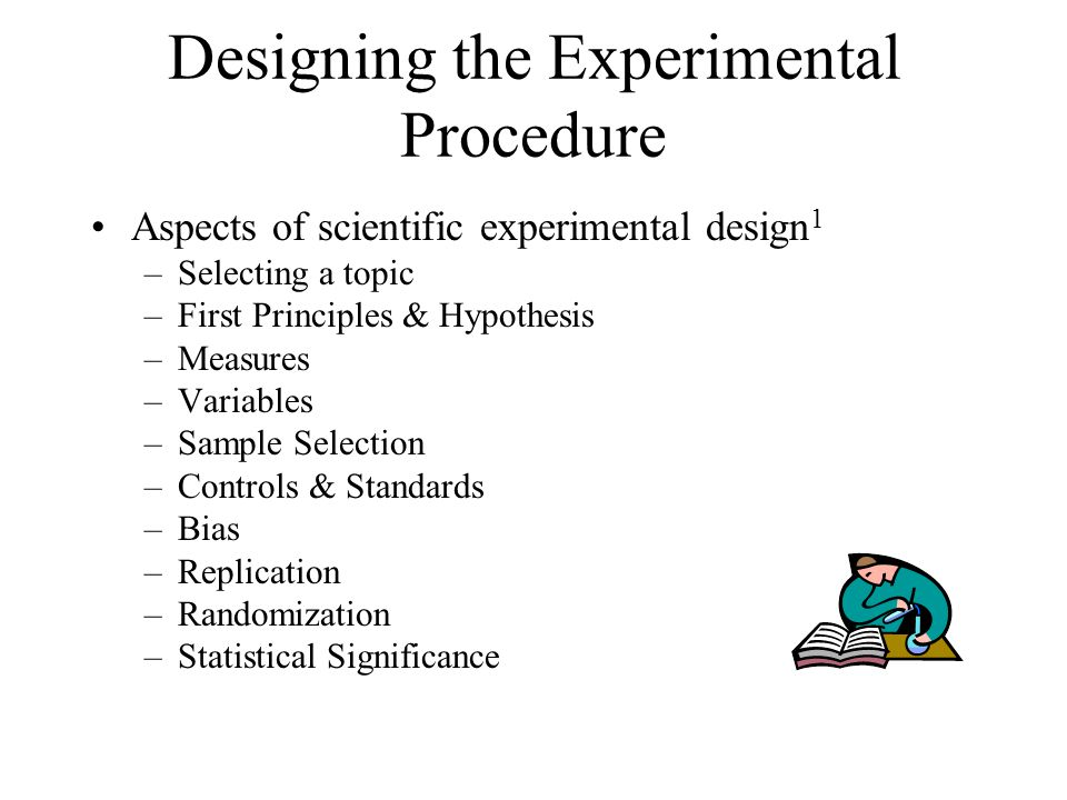 Designing the Experimental Procedure