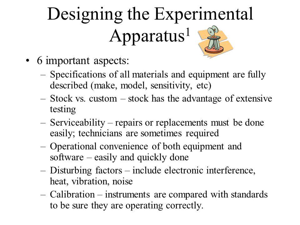 Designing the Experimental Apparatus1