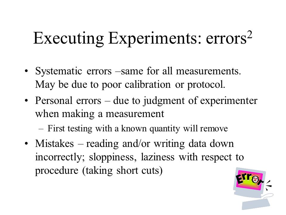 Executing Experiments: errors2
