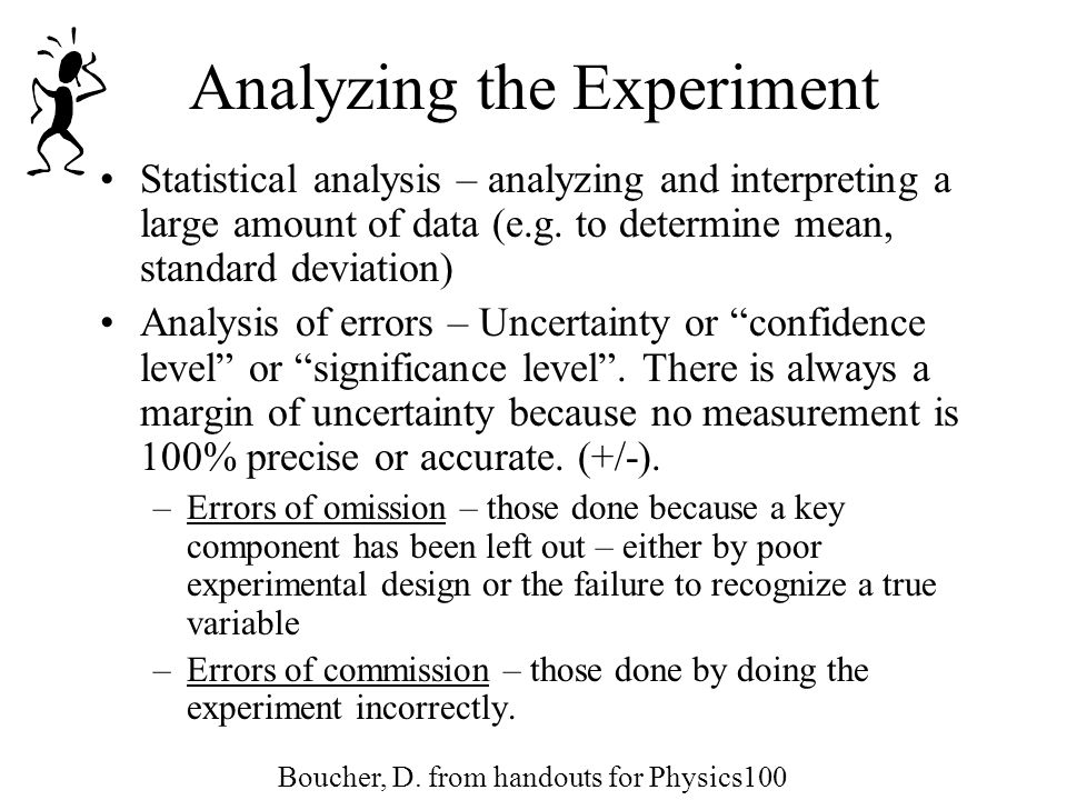 Analyzing the Experiment