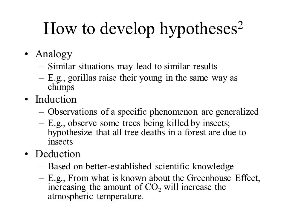 How to develop hypotheses2