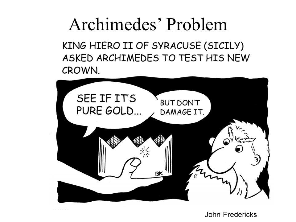 Archimedes' Problem John Fredericks