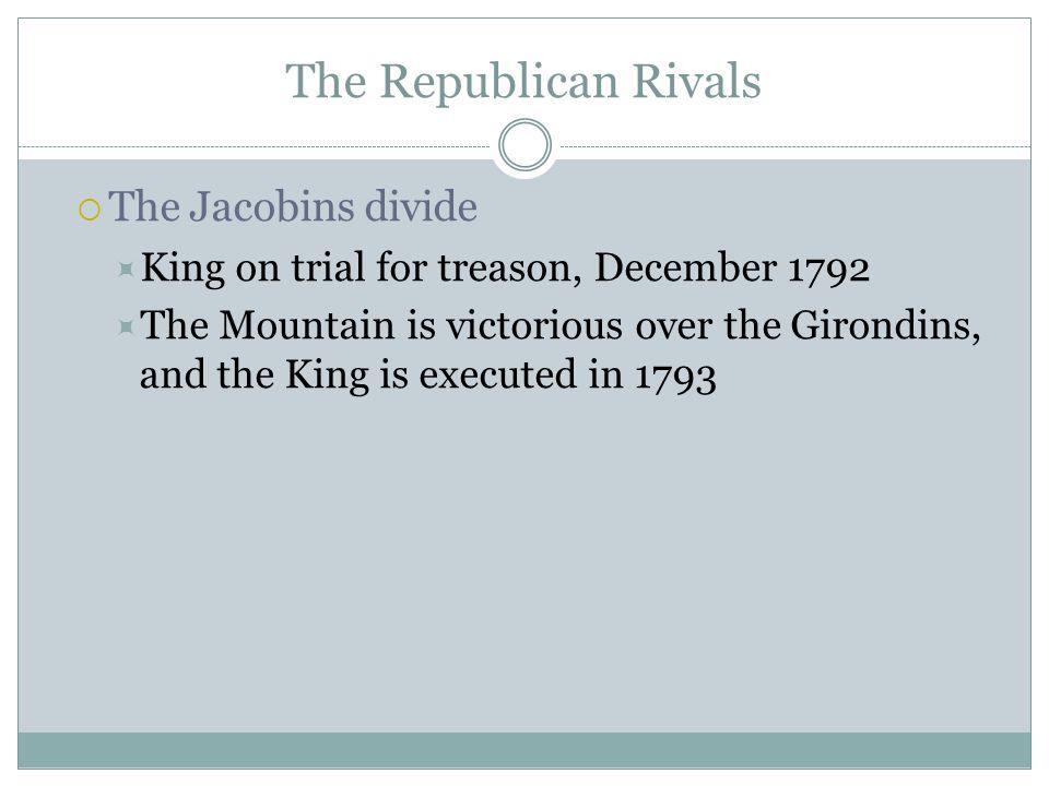 The Republican Rivals The Jacobins divide