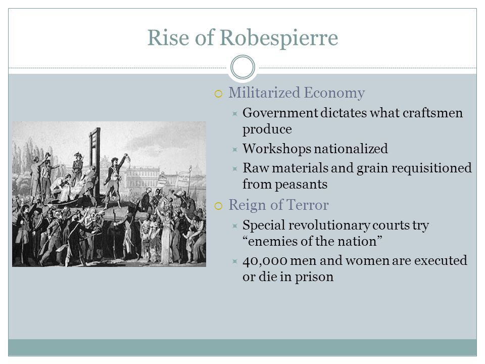 Rise of Robespierre Militarized Economy Reign of Terror