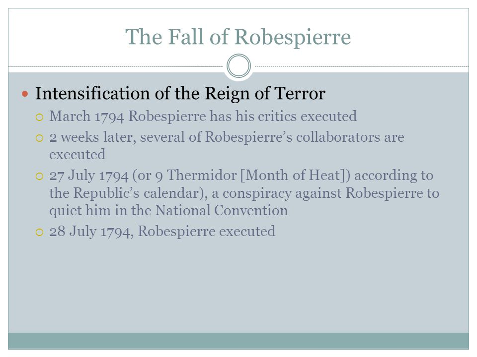 The Fall of Robespierre