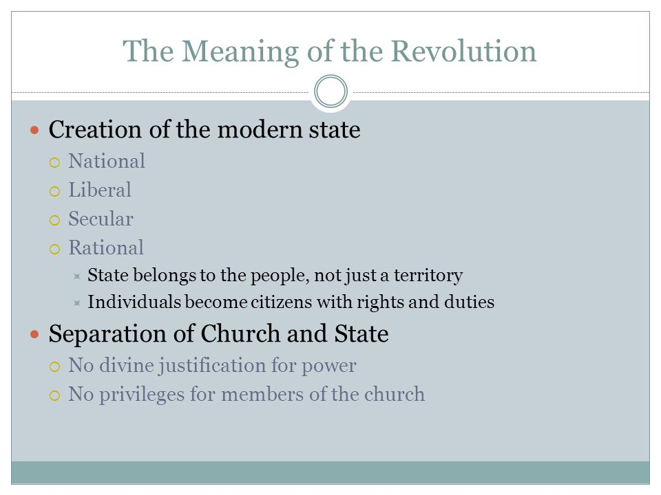 The Meaning of the Revolution