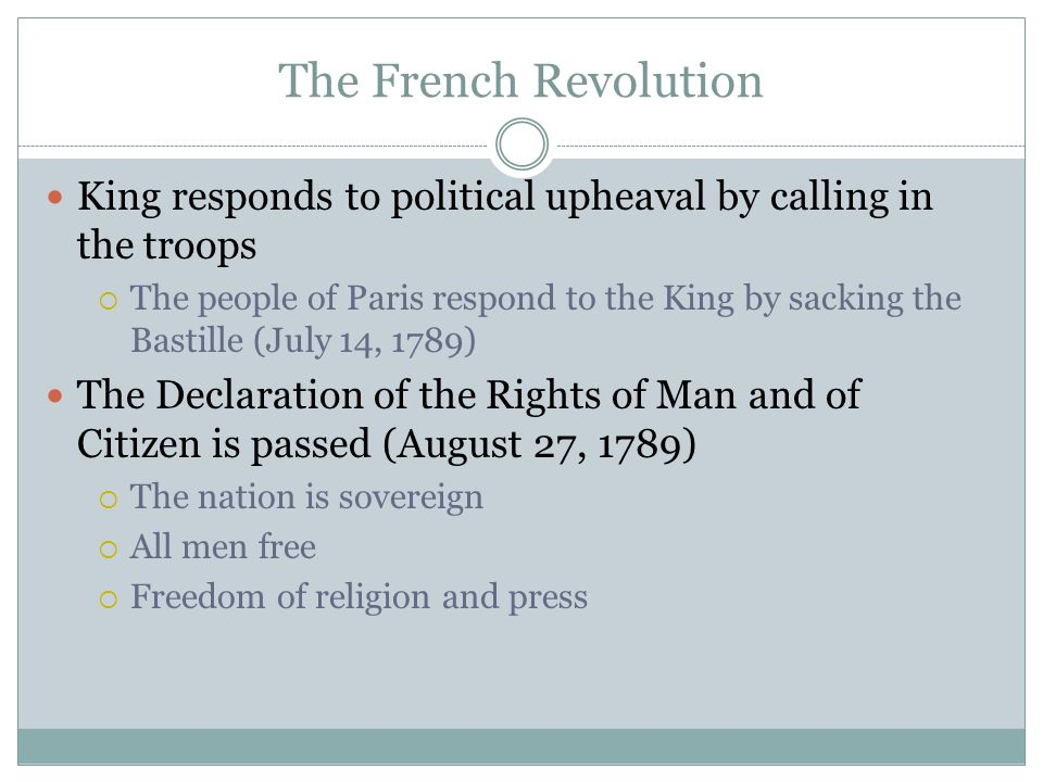 The French Revolution King responds to political upheaval by calling in the troops.