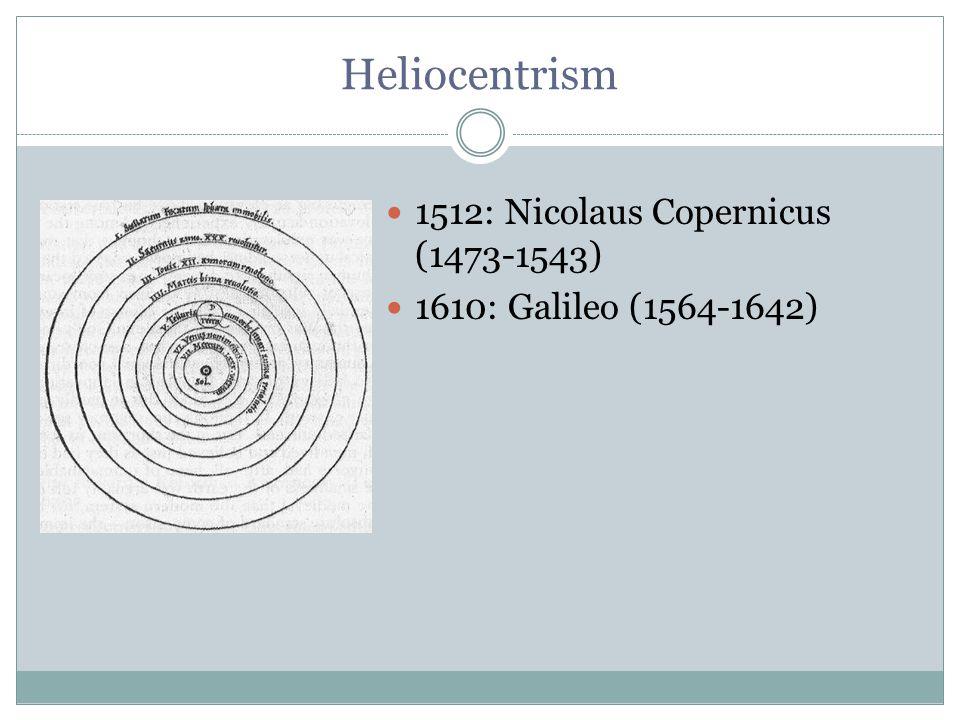 Heliocentrism 1512: Nicolaus Copernicus (1473-1543)