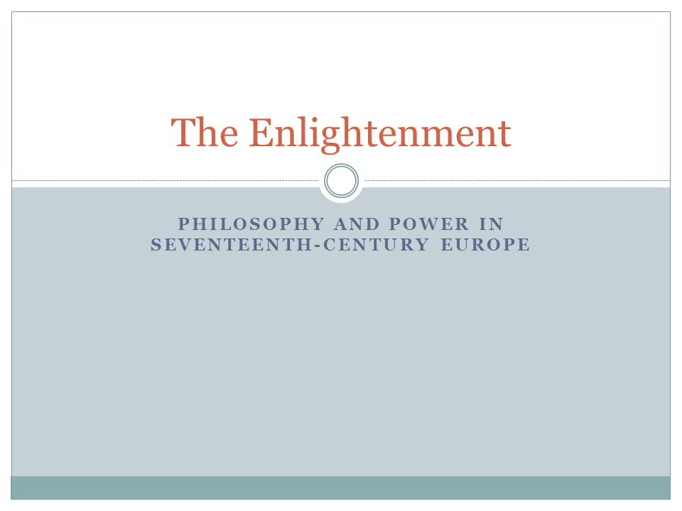 Philosophy and Power in Seventeenth-Century Europe