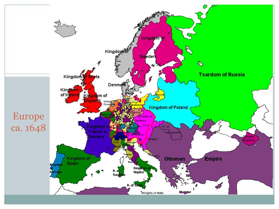 Europe ca. 1648