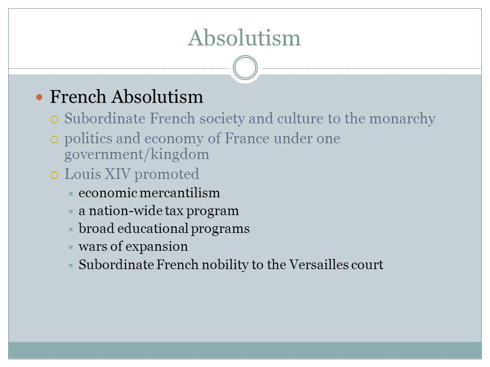 Absolutism French Absolutism