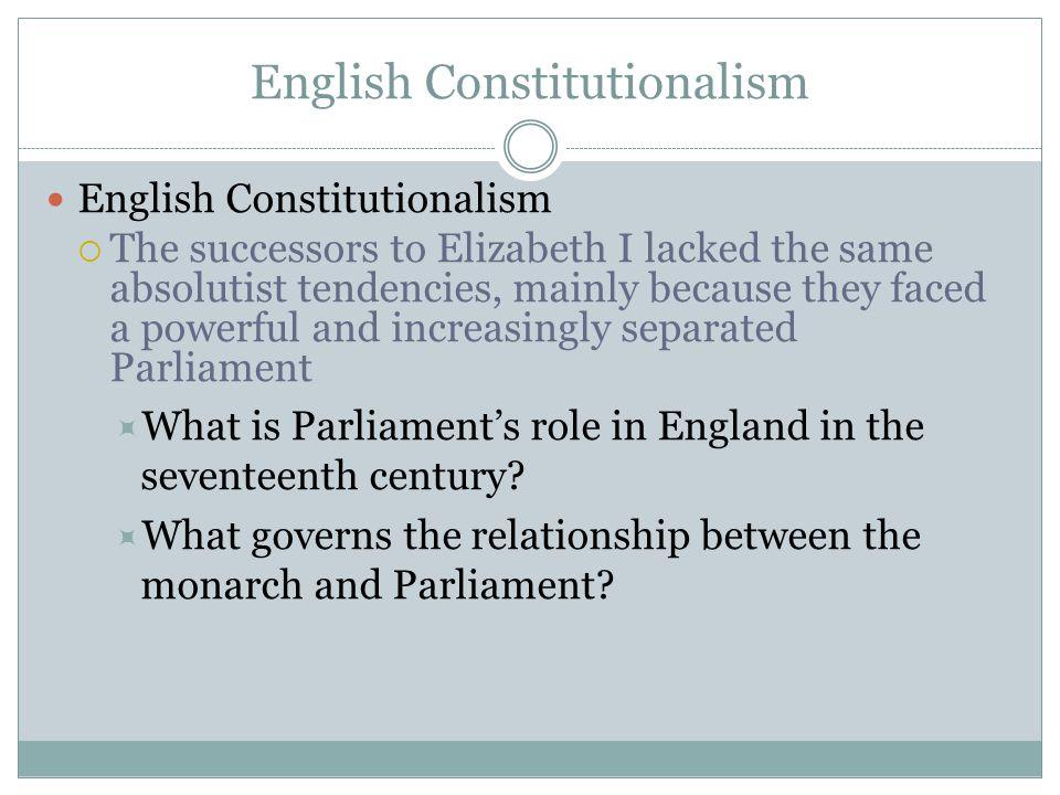 English Constitutionalism