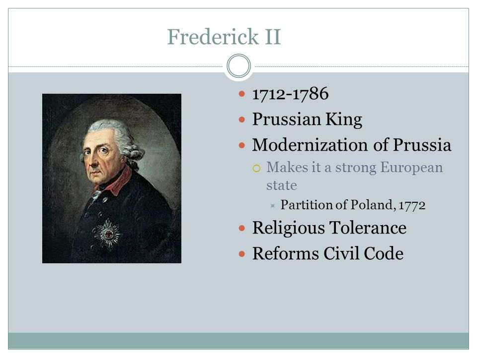 frederick ii of prussia essay on the forms of government History enlightened absolutism is the theme of an essay by frederick the great, who ruled prussia from 1740 to 1786, defending this system of government.