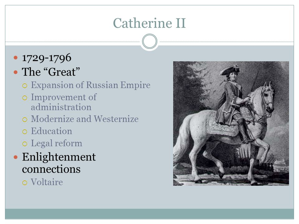 Catherine II 1729-1796 The Great Enlightenment connections