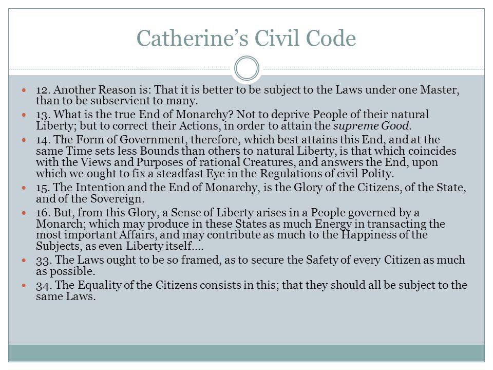 Catherine's Civil Code