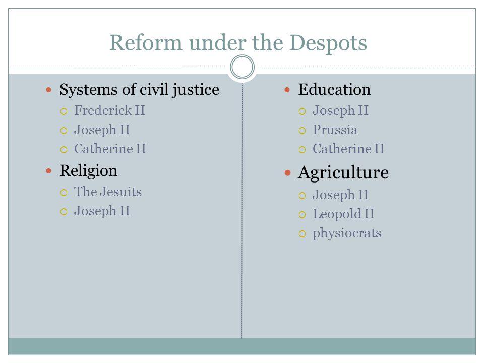 Reform under the Despots