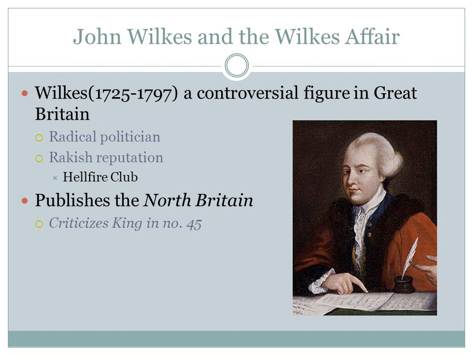John Wilkes and the Wilkes Affair