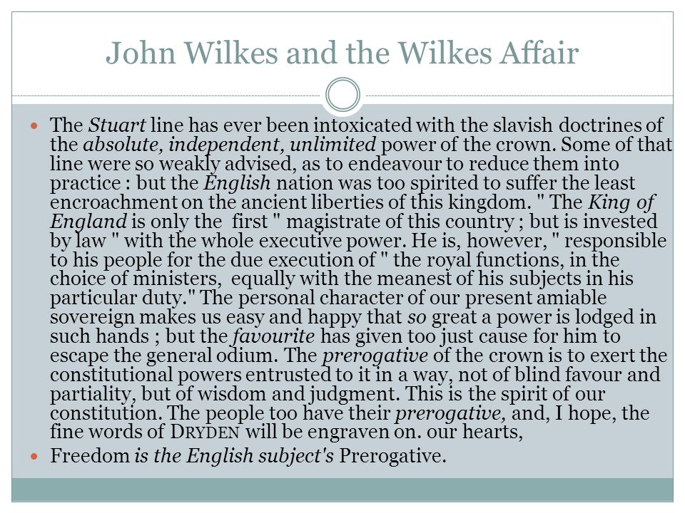 John Wilkes and the Wilkes Affair