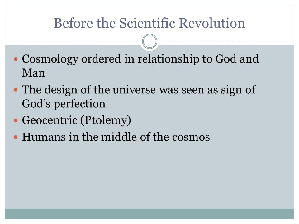 Before the Scientific Revolution